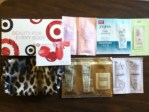 Target Beauty For Every Body Bag filled with samples and coupons