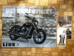 Harley-Davidson Sticker - Black Out Custom Bike Poster - and card from Harley-Davidson Motor Company