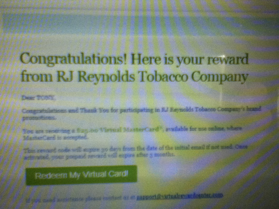 Rj reynolds coupons by mail