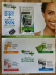Free sample of new innovation Garnier clean new Blackhead Eliminating Scrub