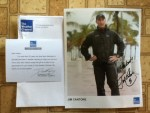 Gift from The Weather Channel - A 8+10 Autographed  Photo of Jim Cantore - Thank you David Kenny - Chairman & CEO of The Weather Company