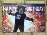 Happy Birthday post card from Chicago Bears Football Club