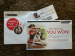 Winner in the Purina Summer Treasure Instant Win Game at PureLoveForPets.com - Won a coupon for 2 Free cans of Purina ALPO Dog Food
