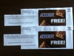 Second Prize Winner in the SNICKERS Brand Refuel & Win Game - coupons for Free SNICKERS bars