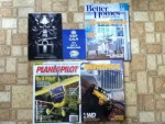 Icon Motor Sports catalog - Wheel-Life post card - Better Homes and Gardens March magazine - Plane&Pilot March magazine - 4Wheel Wheel Drive Spring 2015 Heritage Catalog