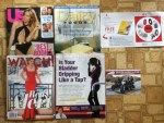 US Weekly - Dairy Foods May magazine - ESSENTRA Specialty Tapes postcard - Watch June magazine - Bel Marra Health Bladder Rescue offer