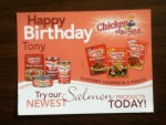 Happy Birthday Postcard & Coupon from Chicken of the Sea