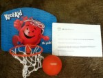 Winner in the Kool-Aid Prize Vault Instant Win and Sweepstakes - Won a Kool-Aid Basketball Set - Thank you very much HelloWorld