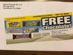 Road Trip Prize coupons or a Free Mars Chocolate Bar from Mars Chocolate NS, LLC