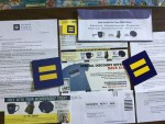 Address Labels - Stickers & Key Chain to show the world     You believe in equality from Human rights campaign