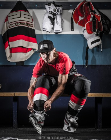 Erik Karlsson photoshoot for Stable 26 Oct., 18, 2013 PHOTO: Andre Ringuette/Freestyle Photography