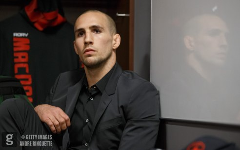 OTTAWA, ON - JUNE 18: Rory MacDonald focuses backstage before the UFC Fight Night event inside the TD Place Arena on June 18, 2016 in Ottawa, Ontario, Canada. (Photo by Andre Ringuette/Zuffa LLC/Zuffa LLC via Getty Images)