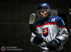 Slovakia's Martin Krempasky #11 walks to the ice prior to a game against Sweden during quarterfinal round action at the 2016 IIHF Ice Hockey U18 World Championship. (Photo by Matt Zambonin/HHOF-IIHF Images)