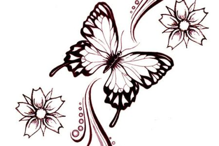 flower erfly design