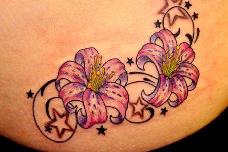 flowers stars tat