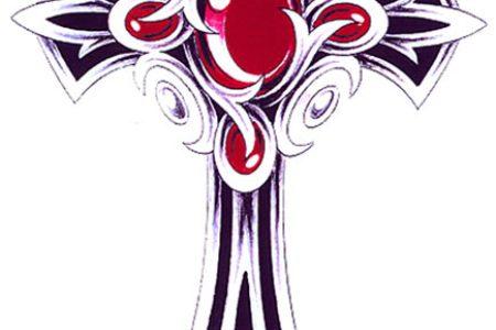 ornate cross design