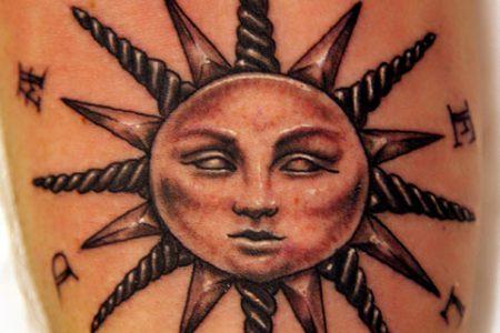 sun tattoo 3