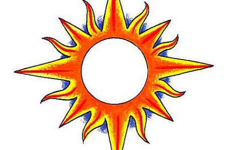 sun tattoo design 7