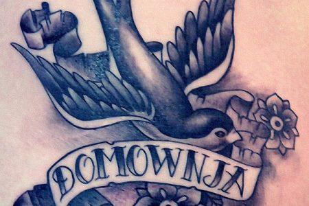swallow flowers tattoo