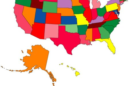 blank us map color
