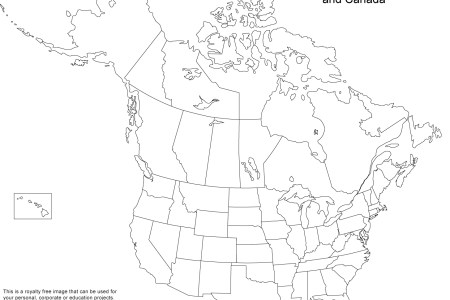 blank map of us and caa