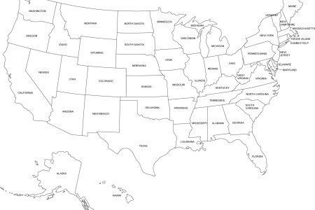 printable map of eastern united states