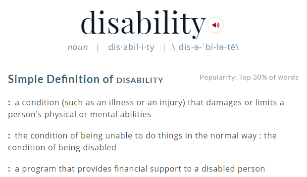 Should we let disability define us?