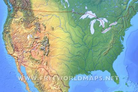 Map Of United States Mountain Ranges - Mountain ranges in us map