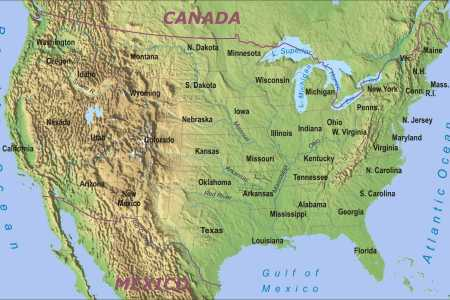 geographic map of us