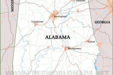 Map Of Usa Alabama - Us map of alabama