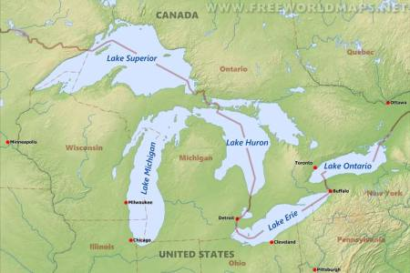 great lakes maps