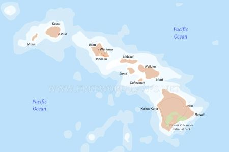pin physical location map of hawaii highlighted country on