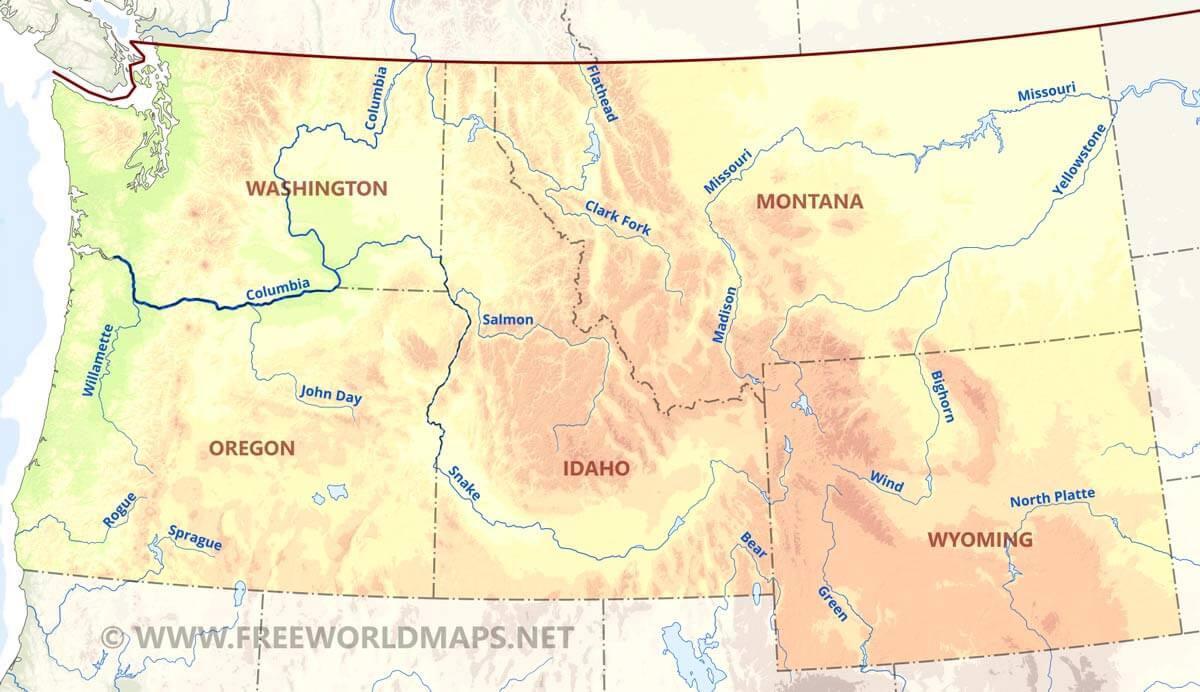 Pacific Northwest Map Go Northwest A Travel Guide MagnusAndCheryl