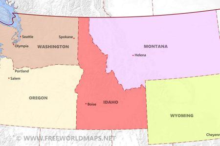 northwestern us political map by freeworldmaps.net