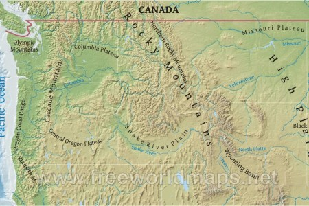 gallery for > northwestern states map