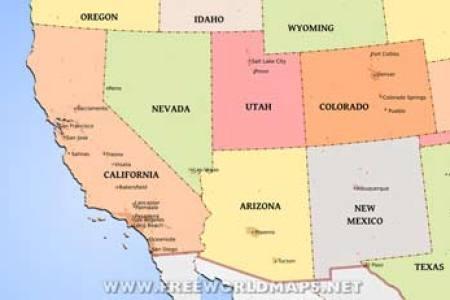 southwestern us physical map