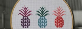 free cross stitch pattern pineapple motif