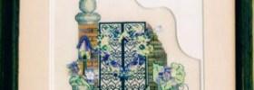 spring garden gate free cross stitch pattern