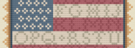 americana sampler flag free cross stitch pattern
