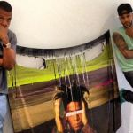 Jay-Z with painting of Basquiat by Swizz Beatz