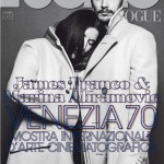 James Franco and Marina Abramovic on the cover of Italian Vogue