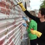 Kofke painting graffiti in Russia
