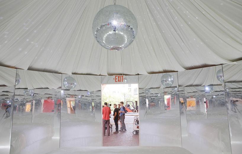 Urs Fischer: nomadic art tent