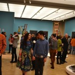 Yinka Shinobare exhibition opening, The Barnes Collection, 2014