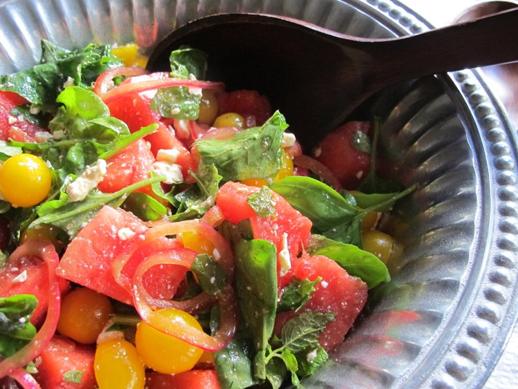 Tomato-Watermelon Caprese Salad is a summer favorite, refreshing salad with burst of flavor in every bite. It's healthy and has a lot of flavor. It's a perfect addition to any summer barbecue.