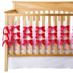 Fuschia Bow Crib Bedding