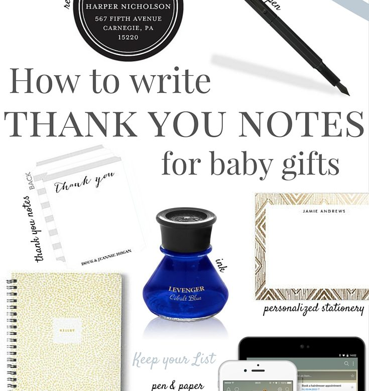 How to write a baby thank you