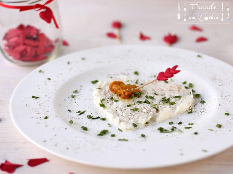 Veganes Spiegelei zum Valentinstag - Freude am Kochen