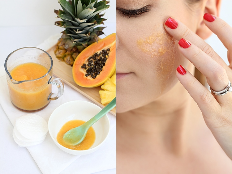 Pineapple enzyme facial peel mask