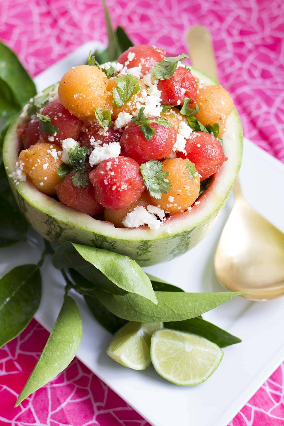 watermelon salad with feta or cotija recipes dishmaps watermelon salad ...